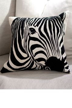 Zebra pillow, perfect accent item for a safari style home.