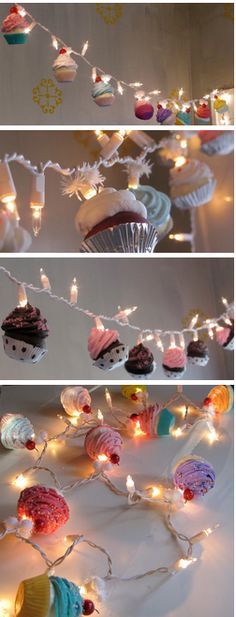 cute cupcake lights!! id hang these up in my 'imaginary cupcake shop'! lol
