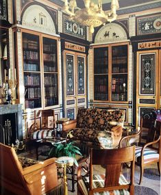 Library by Renzo Mongiardino in Roomscapes
