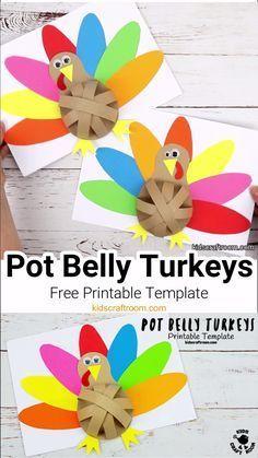 Pot Belly Paper Turkeys