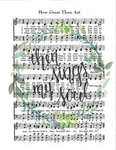 Sheet Music Crafts, Sheet Music Art, Music Sheets, Hymn Art, Scripture Art, Scripture Painting, Bible Scriptures, Then Sings My Soul, Christian Songs