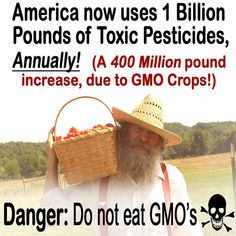This is exactly why Oasis Advanced Wellness encourages home gardens and buying from local farmers as long as you know their farming practices/methods.  Pesticide Use Ramping Up As GMO Crop Technology Backfires  http://www.reuters.com/article/2012/10/02/us-usa-study-pesticides-idUSBRE89100X20121002