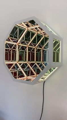 Mirror Artwork, Led Mirror, Home Room Design, Home Interior Design, Pixel Led, Infinite Mirror, Light Art Installation, 3d Prints, Cool Inventions