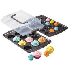 3-Piece Covered Cupcake Set