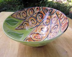 Majolica Pottery Earthenware Clay Serving by ClayLickCreekPottery, $40.00