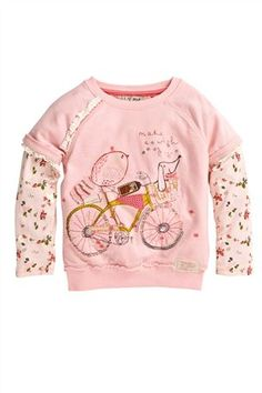 Buy Pink Character Crew Neck Sweater (3mths-6yrs) from the Next UK online shop