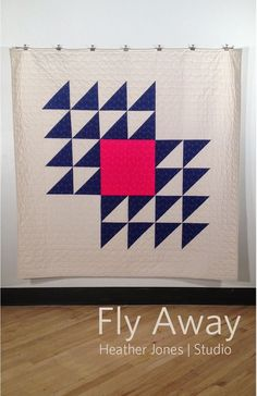 "Simple, bright, and impactful - the ""Fly Away"" quilt by Heather Jones. Pattern available for $12 after the jump."
