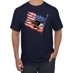 USA Eagle Flag Retro Patriotic Americana / American Pride Graphic T-Shirt, Small / Maroon Usa Shirt, American Life, Branded Shirts, Bobby, Pride, Eagle, Fabrics, Flag, Passion