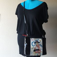 """Black Crossbody Chic and perfect travel companion- strap is detachable and can also be carried as a clutch. Back does not include design, has one tiny hairline storage scratch and small black transfer on the rear zipper strap which can hardly be noticed unless looking for it. Bag measures 10"""" W x 7.5"""" H can expand 2"""" D shoulder drop measures 24"""" but can be shortened or made longer. Collector's Item Brighton Bags Crossbody Bags"""