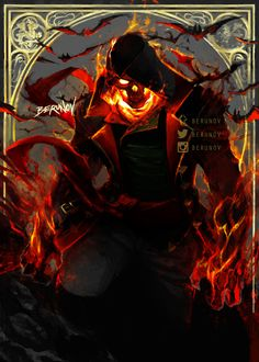 i like the red used and the kind of ghost rider look to it Fantasy Character Design, Character Inspiration, Character Art, Dark Fantasy Art, Dark Art, Templer, Ghost Rider, Dark Souls, Skull Art