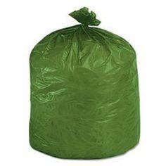 Stout EcoDegradable Bags, Extra Heavy Duty, 33 Gallons, 1.1 Mils, 33 x 40, Green, 40/Carton (G3340E11), http://www.amazon.com/dp/B001ASD7AG/ref=cm_sw_r_pi_awdl_mBm2ub1VM6NCC