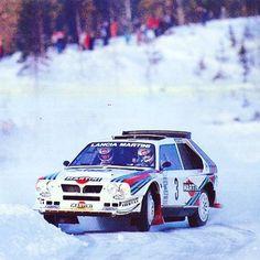 Swedish Rally 1986 Markku Alen. lancia deltas4