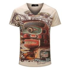 Vintage short sleeve 3D Printed Various Designs - Men's T shirt