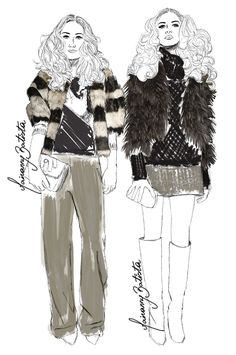 #MBFW Alice + Olivia Fall/Winter 14 | Fashion Illustration report by Mairanny Batista