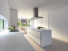 Witte Keuken Met Kookeiland : Stil Design-keukens, Planungsart Keuken met keukeneiland