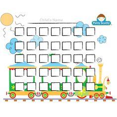 Free Potty Charts with Trains | Potty Scotty