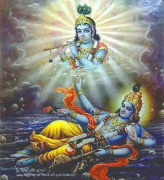 Jai Vishnu Sai Krishna Bengal 1940s poster (via ebay:  alphaomegaphilately)