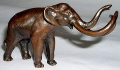 Wm. Otto Bronze Mastodon Elephant La Brea Tar Pits Vintage Rare ...