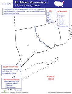 Worksheets: Connecticut Geography