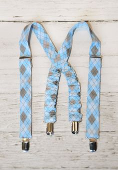 NEW Little Boys Suspenders Blue Argyle Great for Special Occasion or Photo Prop. $16.50, via Etsy.