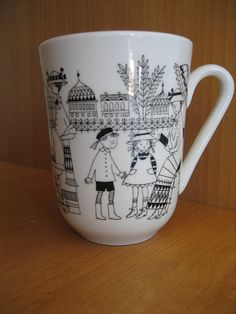 Arabia Finland Emilia Mug Nordic Design, Scandinavian Design, Stig Lindberg, Blue Horse, Cute Cups, Vintage Kitchenware, Cool Mugs, Marimekko, Vintage Pottery