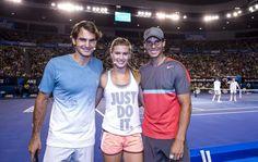 Roger Federer, Genie Bouchard, Rafael Nadal. Tennis.