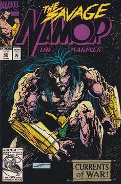 Namor, the Sub-Mariner # 34 Marvel Comics Comic Book Covers, Comic Books, Jae Lee, Wolverine Art, Sub Mariner, Marvel Series, Disney Marvel, Dark Ages, Vintage Comics