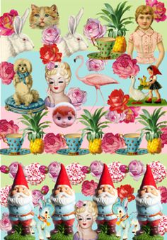 Poster kitsch romantico do Studio Bebelfranco por R$80,00