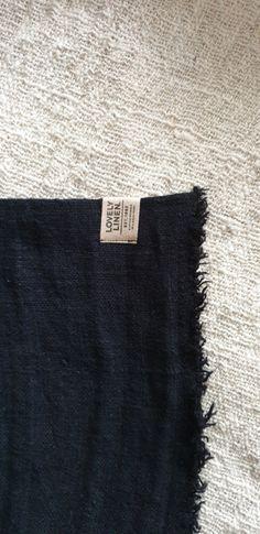 Linnen badmat zwart | Badkamer | www.landelijkenstoerrr.nl
