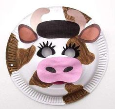 Crafting animal paper plate masks is an ideal group project for young children to interact together and have fun making them. Paper Plate Masks, Paper Plates, Paper Mask, Cow Mask, Cow Appreciation Day, Christmas Program, Cowboy Birthday, Toilet Paper Roll Crafts, Animal Masks