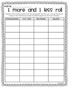 Differentiating Math Printables