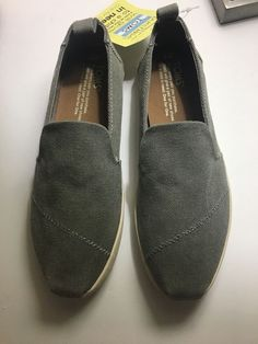 d49688f21d6 New Toms Womens Drizzle Grey Washed Canvas Cupsole size W6  fashion   clothing  shoes