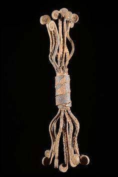 Monnaie primitive en fer noir - Kissi - Guinée