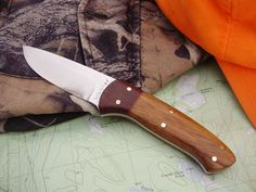 Drop point knife by WagnerBlades on Etsy