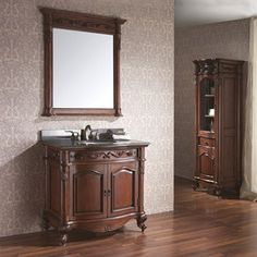 "Avanity Provence 31"" vanity with matching mirror - Antique Cherry"