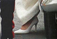 Kate Middleton's royal wedding shoes.