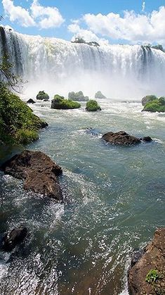 Iguazu Falls, Argentina -- by Tomeu Ozonas Places Around The World, Oh The Places You'll Go, Places To Travel, Places To Visit, Around The Worlds, Beautiful Waterfalls, Beautiful Landscapes, Beautiful World, Beautiful Places