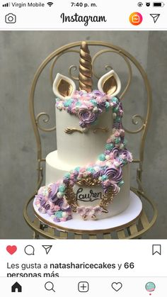 Virgin Mobile, Birthday Ideas, Birthday Cake, Unicorn Cakes, Snow Globes, Instagram, Desserts, Food, Tailgate Desserts