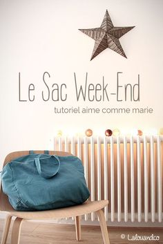 Mon sac week-end Aime comme Marie [tutoriel]