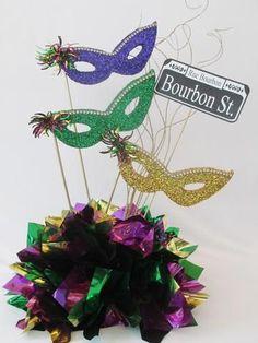 Mardi Gras Masks Centerpiece