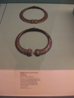 Celtic iron age artifacts , British Museum.