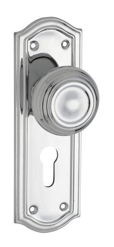 Chrome Kensington Euro Door Handle (Pair)