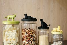 jar lid images, kitten | Mr. Kate | DIY animal jar tops