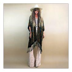Rock 'N' Roll Fantasy girl on a vine paisley velvet kimono
