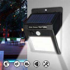 200LEDs Solaire Lampe Murale Jardin Imperméable Yards Veilleuse Motion Capteur