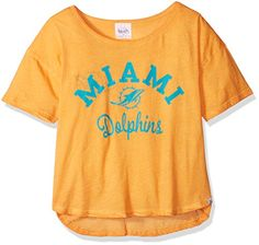 NFL Miami Dolphins Touch by Alyssa Milano Second Base Reversible Tee