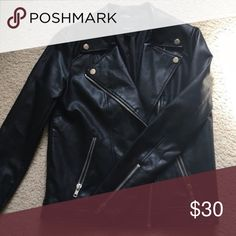 UPDATED LISTING: Faux leather jacket HAVEN'T BEEN ON HERE FREQUENTLY. STILL AVAILABLE, RELISTING. Hardly work. Jackets & Coats