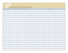 Create a Wedding Guest List Template for Excel to track wedding ...