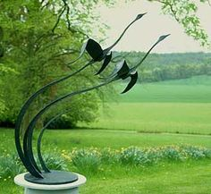 Garden sculpture and landscape art. Sculpture sizes suitable from small patio gardens to large park-land pieces.For more information please visit or Steel Sculpture – Two CrescentsGarden Scul… Sculpture Metal, Outdoor Sculpture, Outdoor Art, Sculpture Ideas, Metal Garden Sculptures, Metal Yard Art, Scrap Metal Art, Art Fer, Garden Art