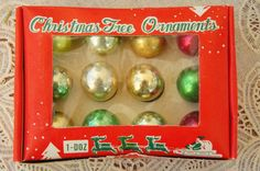 Vintage 50s-60s Mini Glass Christmas Ornament by SycamoreVintage